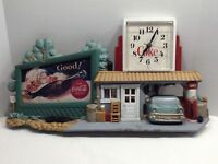 1990 Coca-Cola Wall Clock Route 66 Garage Gas Station Chevy Coke