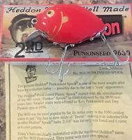 HEDDON PUNKINSEED 9630 2nd in color RG, or RED (w/ GOLD EYE + GILLS)