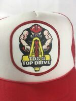 Vintage Varco TDS-S Top Drive Trucker SnapBack Mesh Hat Red and White Cap