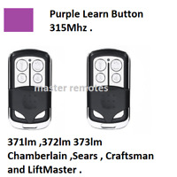 NEW CompatibleW 371LM LiftMaster Sears Chamberlain Remote 373lm 370lm USA 2pack $16.98