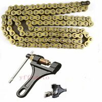 Breaker Cutter Tool + Gold 520 116 Links Chain Motorcycle Quad ATV Pitbike Buggy