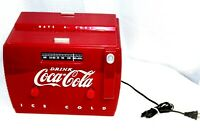 1989 Old-Tyme Coca-Cola Cooler Reproduction Radio & Cassette Player