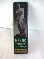 Vintage Advertising Tin Venus Perfect Pencil Box Made In England Rare Collectib