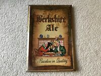 Berkshire Ale Vintage Tin Over Cardboard Sign Old Reading Brewery