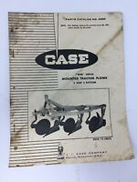 J I Case Parts Catalog A840 Mounted Tractor Plows Original 1968