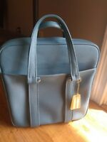 VINTAGE RETRO Samsonite Travel Tote Bag Carry On Luggage Teal Blue