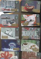 250 STARBUCKS  2017  CHRISTMAS CARDS ALL UNACTIVATED DOG CAT BUNNY FOX LOVE SANT