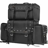 Sissy Bar Bags Motorcycle Travel Luggage Removable  Bags Universal Fit Harley S
