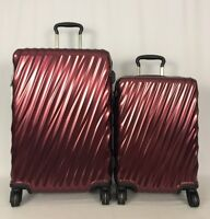 Tumi 19 Degree Short Trip & Int'l Carryon Bordeaux Luggage Set 228664 & 22866