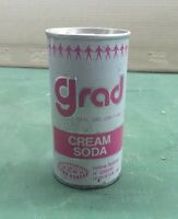 RARE 10oz Grad Cream Soda Vintage Empty Can Cola