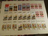 Lot of 27 Chevron Texaco Shell Gulf 1970's City & State Gas Station Road Maps