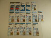 Lot of 16 Chevron 1970's State Highway & US Gas Station Travel Road Maps