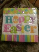 American Greeting EASTER NAPKINS quot;HOPPY EASTERquot; Luncheon Napkins 16 ct New