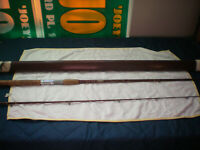Vintage Fenwick FERALITE Fishing Spinning Rod Pole with Tube Case Model # PLP71