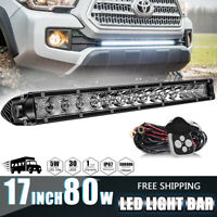 New 17 Inch 80W Combo LED Light Bar Offroad Driving Lamp 4WD Truck ATV VS 16