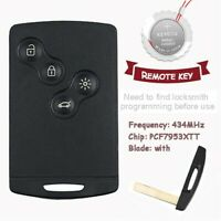 Smart Remote Control Car Key Fob 433MHz PCF7953XTT Chip for Renault Clio4 $35.91