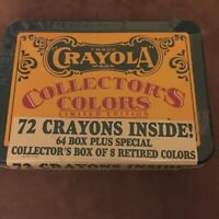 Crayola Crayons Collectors Colors LIMITED EDITION Tin 72 Crayons NEW Sealed 1991