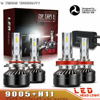 9005+H11 Combo LED Headlights High & Low Beam 6000K White 120W 12000LM PR69
