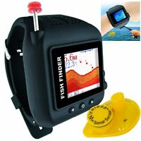 Wireless Watch Type Fish Finder Clock Waterproof Rechargeable Batt 200ft Range