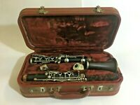 Vintage Evette Sponsored by Buffet Paris France Wooden Clarinet with Case