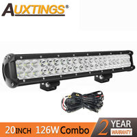 20'' inch 126W LED LIGHT BAR COMBO Offroad LAMP WORK ATV UTE for Jeep 4WD 12/24V