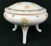 Hand Painted Porcelain Nippon Trinket Box with Legs 2