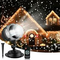 Christmas Snowfall Projector Lights, Indoor Outdoor Holiday With Remote Control