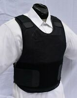 Large IIIA Second Chance Concealable Body Armor Vest Carrier BulletProof Inserts