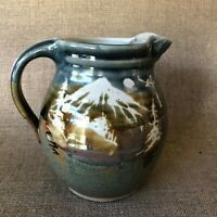 Lovely Vintage Hand Thrown Studio Art Pottery Pitcher - Signed Hough