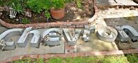 Large Vintage CHEVRON OIL GAS Lighted Letters Sign 24.5
