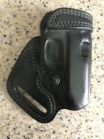 SOB204B Galco Gunleather Small of Back Leather Holster Black New W/O Tags