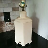 Rare Haeger Pottery Urn Lamp Pale Yellow