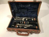 """Normandy """"Special"""" Made By Noblet Wood Clarinet Made in France Hard Case W/Reeds"""