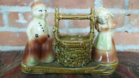 VINTAGE Shawnee Wishing Well Planter #710, Dutch Couple Jack and Jill?