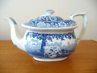 Antique Staffordshire Milkmaid Design Teapot by Stubbs Circa 1825
