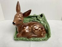 Vintage Shawnee Ceramic Deer Planter Vase #766 USA