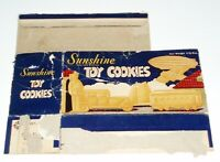 1940's Sunshine TOY COOKIES cookie box (animal crackers style)
