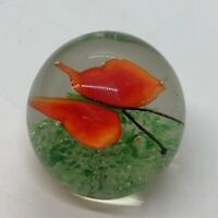 Vintage Collectible Made in China MILLEFIORI Art Glass Paperweight Butterfly