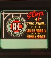 vintage HC Sinclair gas advertisement, glass slide, magic lantern