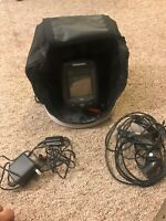 Humminbird PiranhaMAX 150 Fishfinder w/ Transducer, Cables & Battery Case - LOOK