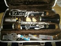 Vintage Buescher Clarinet with Mouthpiece and Case Ready to Play