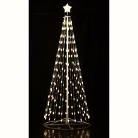 12#x27; Ft. Outdoor Warm White LED Christmas Tree Cone Light w Wireless Remote 144″