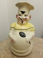 Vintage American Bisque French Chef Cookie Jar