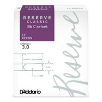 Rico Reserve Classic Bb Clarinet Reeds 3.0 Strength, 10 Count