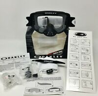 OAKLEY® O FRAME® 2.0 MX GOGGLES W/ ROLL OFFS ATV MOTOCROSS BLACK OVER GLASSES