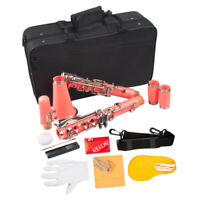 Exquisite Beginner Student Clarinet Kits Key of Bb with Carry Case -Pink