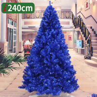 Blue Artificial PVC Christmas Tree W/Stand Holiday Indoor Outdoor Decorate