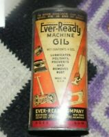 ! VINTAGE EVER-READY MACHINE OIL TIN - EMPTY,LEAD TOP !60DRP!