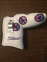 NOOB Scotty Cameron 2004 White Dancing Peace Signs Blade Putter Headcover + Tool