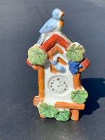 VINTAGE WALL POCKET CUCKOO CLOCK WITH BLUE BIRD MADE IN JAPAN